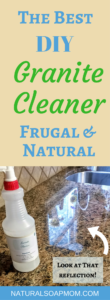 Looking for the best DIY granite cleaner recipe?? Look no further! Keep your granite counters looking shiny and new with simple granite cleaner.