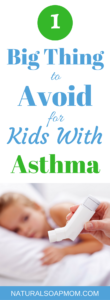 There is one simple thing you can do to improve and control your child's asthma! Natural remedies can help, but there one big thing you're probably doing that is making it worse. Avoiding symptoms is best so learn common triggers. Tips to improve your child's asthma today and how to stop aggrivating your child's asthma symptoms. @naturalsoapmom.com #asthma #asthmaattack #asthmainfo #kidsasthma #childasthma #reverseasthma #controlasthma #asthmatriggers