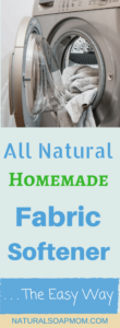 DIY dryer sheets, DIY liquid fabric softener recipes, vinegar, fragrance with Essential Oils, Epson salts. It makes your head spin! Do what works! Get All Natural, Homemade Fabric Softener – The EASY Way! You can be making your own homemade fabric softener tomorrow – no recipe required. Plus you'll get a free shopping list! @naturalsoapmom.com #fabricsoftener #laundry #laundrydetergent #naturalfabricsoftener #natural #naturallaundryroom #naturalfabricsoftener