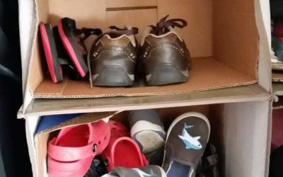 Amazing 5 Minute DIY Kids Shoe Organization for Your Closet