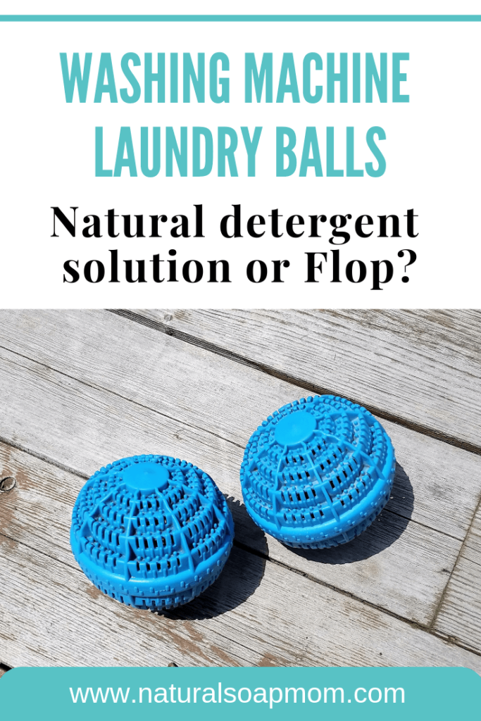 Washing Machine Laundry balls like H20 - do they hold up to the hype?! Score other natural laundry ideas like essential oils to freshen and dryer balls as a substitute for fabric softener. @naturalsoapmom.com #naturallaundry #washingmachineballs #naturaldetergent #naturalcleaning